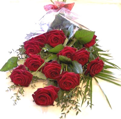 12 Red Rose Bouquet from your Bushey Florist