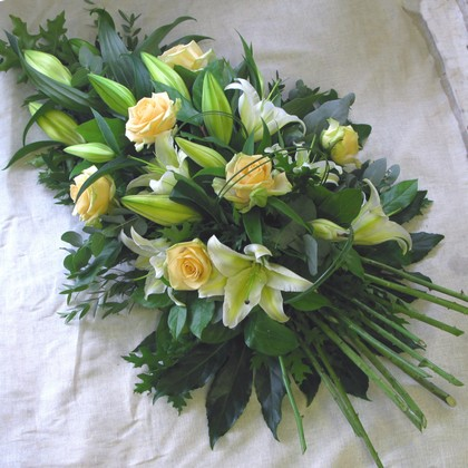 The Flower Shop Bushey Funeral Tributes Rose And Lily Oasis Spray